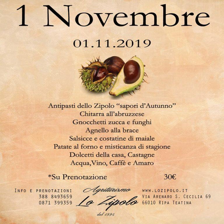 Pranzo 1 Novembre 2019