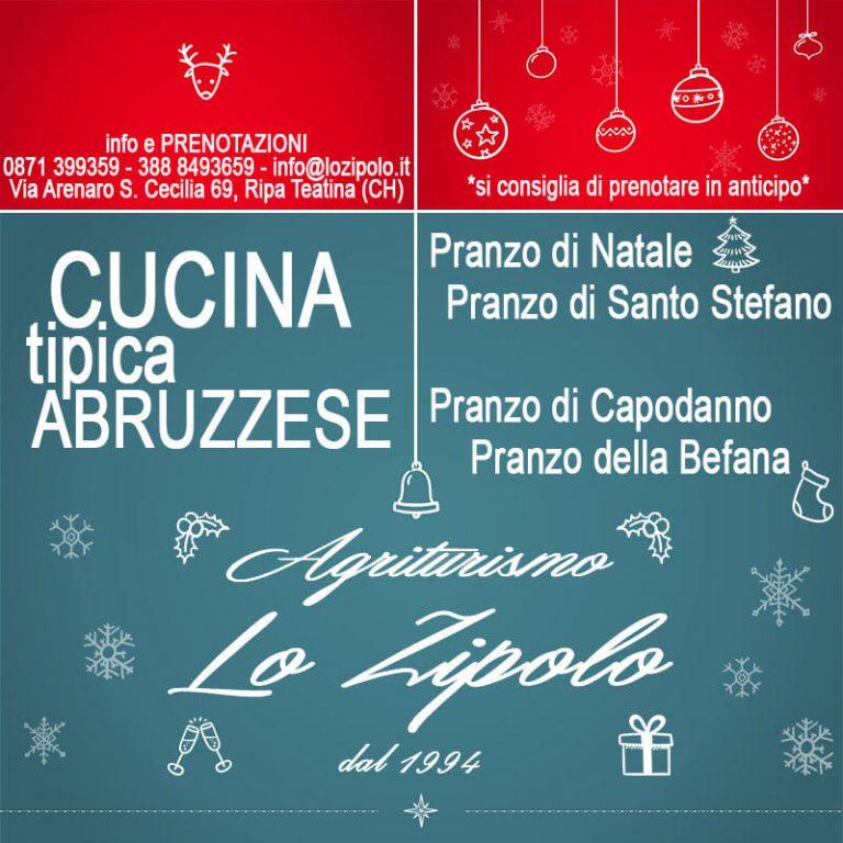 Menu di Natale del ristorante Agrituristico Lo Zipolo